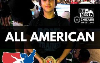 Chicago's Kaila Del Toro poses with her award after earning All-American status last week in Fargo